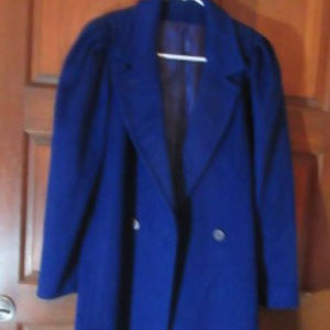 HEAVY BLUE LINED WINTER COAT by CASUAL CORNER